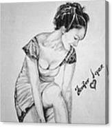Jeniffer Lopez Canvas Print