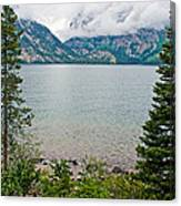 Jenny Lake In Grand Tetons National Park-wyoming  Canvas Print