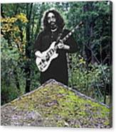 Jerry At The Pyramid In The Woods Canvas Print