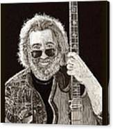 Jerry Garcia String Beard Guitar Canvas Print