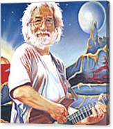 Jerry Garcia Live At The Mars Hotel Canvas Print