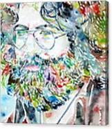 Jerry Garcia Watercolor Portrait.2 Canvas Print