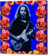 Jerry In Blue With Rose Frame Canvas Print