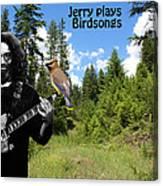 Jerry Plays Birdsongs Canvas Print