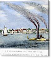 Jersey City, 1844 Canvas Print