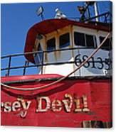 Jersey Devil Clam Boat Canvas Print