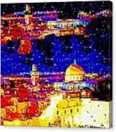 Jerusalem Maala Ve Mata Canvas Print