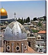 Jerusalem Old City Domes Canvas Print