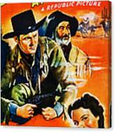 Jesse James At Bay, Us Poster, Roy Canvas Print
