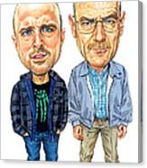 Jesse Pinkman And Walter White Canvas Print