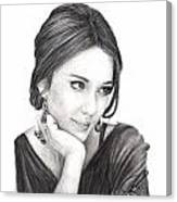 Jessica Alba Canvas Print