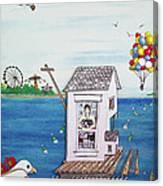 Jessica's Houseboat Canvas Print