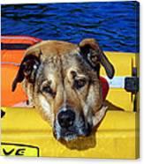 Jessie Kayaking Canvas Print