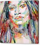 Jessye Norman - Watercolor Portrait Canvas Print