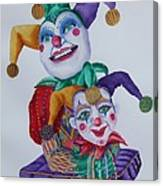Jesters On Bourbon Street  Canvas Print
