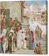 Jesus Advises His Disciples To  'suffer Canvas Print