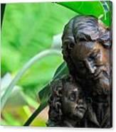 Jesus And Child Statute Canvas Print
