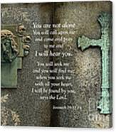 Jesus And Cross - Inspirational - Bible Scripture Canvas Print
