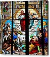 Jesus Angels Stained Glass Painting Inside Cologne Cathedral Germany Canvas Print