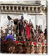 Jesus Christ And Roman Soldiers On Procession Canvas Print
