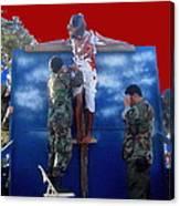 Jesus Christ Float 60th Anniversary Of The Landing On Iwo Jima In Ww2 Sacaton Arizona 2005 Canvas Print