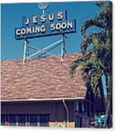 Jesus Coming Soon Church Maui Hawai Canvas Print