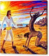 Jesus Evicting A Demon Canvas Print