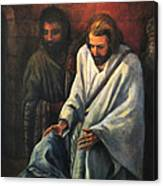 Jesus Healing Beggar Canvas Print