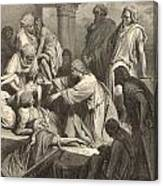 Jesus Healing The Sick Canvas Print