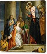 Jesus Healing The Woman With The Issue Of Blood Canvas Print