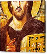 Jesus Icon At Saint Catherine Monastery Canvas Print
