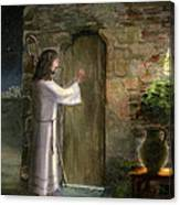Jesus Knocking At The Door Canvas Print