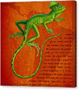 Jesus Lizard Canvas Print