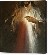 Jesus Of Divine Mercy Canvas Print