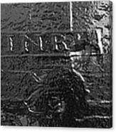 Jesus On The Cross Metal Sculpture Canvas Print