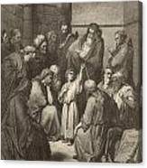 Jesus Questioning The Doctors Canvas Print