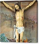 Jesus Statue At Latin Church In Taybeh Canvas Print