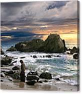 Jesus' Sunset Canvas Print