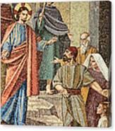 Jesus Visit Canvas Print