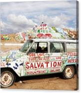 Jesus Wagon Canvas Print