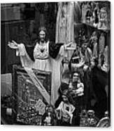 Jesus With Arms Wide Open Religious Figurines In A Shop Window In Toronto Canvas Print