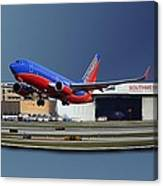 Jet Chicago Airplanes 12 Out Of Bounds Canvas Print