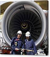 Jet Engine And Air Mechanics Canvas Print