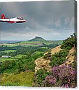 Jet Provost Over The Cleveland Hills Canvas Print