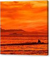 Jetski Ride Into The Sunset Canvas Print