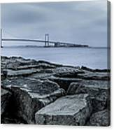 Jetty At Fort Totten Canvas Print