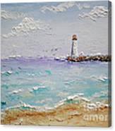 Jetty Lighthouse Canvas Print