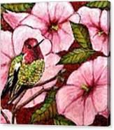 Jewel Among Blooms Canvas Print