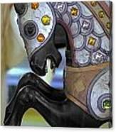 Jeweled Carousel Prancing Horse Canvas Print