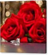 Jewelry And Roses Canvas Print